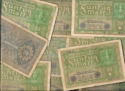 Rare 100 Years Old Antique German Post War Berlin Germany 10 Note Collection Lot