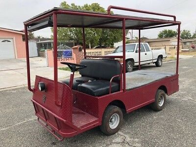 Taylor Dunn B2-48 Industrial Flatbed Electric Utility Cart Steel Cab