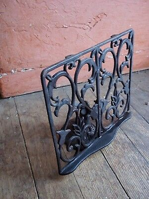 Antique Art Nouveau Cast  Iron Table Top Stand  4 Music Picture Book Adjusts
