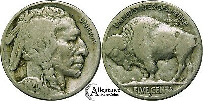 1920-S Buffalo Nickel VG-F rare old type coin money 5 cents