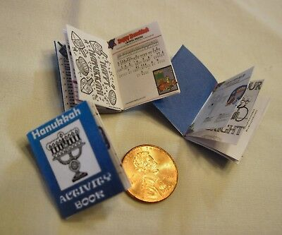 "BOOK - JUDICA - HANUKKAH ACTIVITY BOOK - 1"" Scale-Artisan Made"