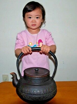 【Rare】Very large iron kettle tetsubin nanbutekki From Japan