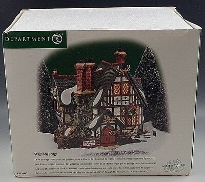 Department 56 Staghorn Lodge Dickens Village With Box