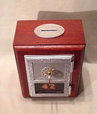 Antique Vintage Post Office Door Mail Box Postal Bank-1940's Yale & Towne