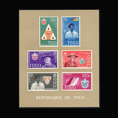 Togo, Sc #406a, Brown, Perf, MNH, 1961, S/S, Boy Scouts, Lord Powell, 1118.