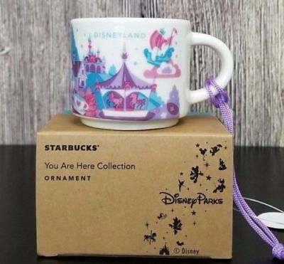 Disney Parks Disneyland Fantasyland Starbucks You Are Here Ornament Mug 2017 YAH