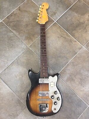 Vintage Electric Guitar By Lafayette. AS-IS For parts Or Repair. Teisco.