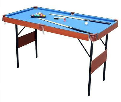 55 Foldable Pool Snooker Billiard Table With Cues Christmas Gift For Kids