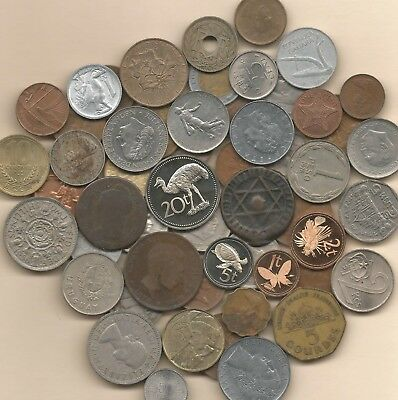 10 Pounds Mixed Foreign World Coins including some from the 1800's