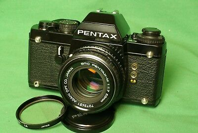 Pentax LX 35mm film SLR camera w/ SMC Pentax-M 50mm f/1.7 prime lens Great shape