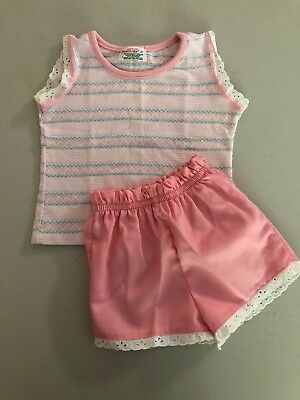 Vintage 1970's Girls size 2T Health-Tex 2 Piece Pink Outfit