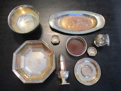 Misc Silverplate Items Wallace Revere Sheffield Regis Oneida Polish Them Up Nice