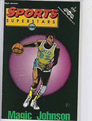 Magic Johnson Dribbling Sports Superstars Comic Book