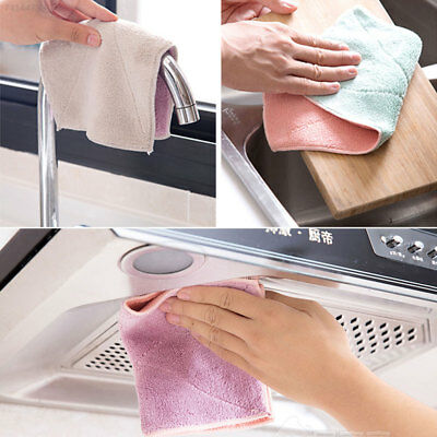 D883 Polyester Housewife Rag Double-Sided Towel Useful Environmentally Friendly