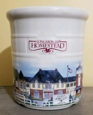 Longaberger Pottery USA Homestead 2 QT Crock Retired 1999