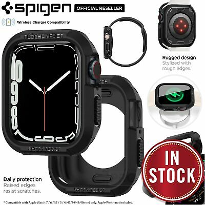new concept 2579a e6bd6 APPLE WATCH SERIES 4 Case, Genuine SPIGEN Rugged Armor Soft Cover for  40/44mm