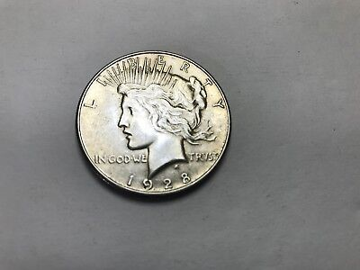 1928-S Peace Silver Dollar <> XF/AU Details Circulated with Blemishes