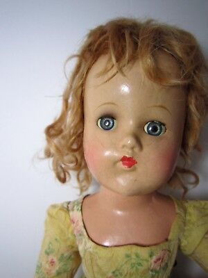 "Vintage 18""  Compositon doll in Cissy Dress. sleepy eyes, red hair No Reserve"