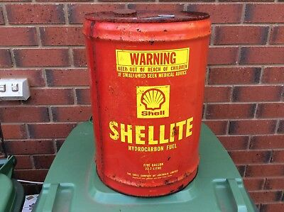 Vintage Shell 20 Litre Tin Can