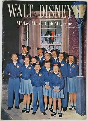1956 Walt Disney's Mickey Mouse Club Magazine Dec - Disneyana Christmas Cover