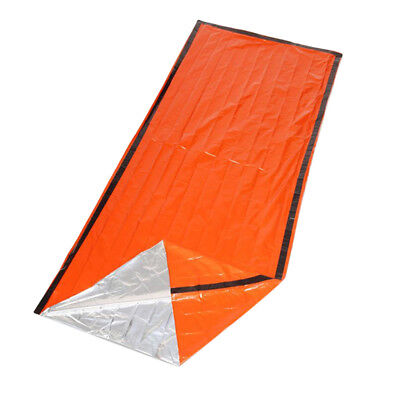 Portable Outdoor Camping Emergency Warm Blanket Rescue Disaster Tent Orange