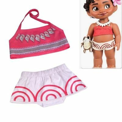 d777c202753 Moana Toddler Baby Girls Kids Cosplay Swimwear Swimsuit Bikini Set Costume  Skirt