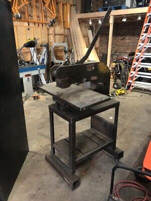 Whitney Jensen Punch press With Stand. Modified With Large Thick Plate Base