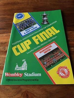 Manchester United V Brighton 1983 Fa Cup Final Programme Mint Free Post Look