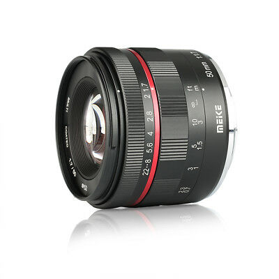 Meike 50mm F1.7 Manual Lens for Sony E-mount A6300 A6500 Full Frame APS-C Camera