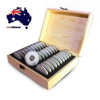 AU 30pc Commemorative Coin Cover Protector Storage Box Case for 20/25/30/35/40mm