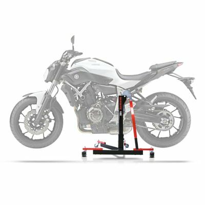 Center Spider Lift ConStands Power Evo Yamaha MT-07 13-19 red Centre