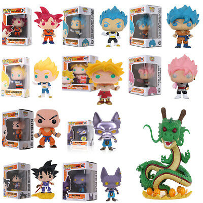 Funko pop! Dragon Ball Z Serise :Goku Vegeta Beerus Saiyan Limited Vinyl Figure