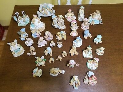 Cherished Teddies Mixed Collection Lot of 38 Figurines and Musical