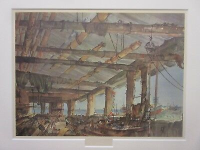 Francis Russell Flint, Spar Shop Uphams Yard- rare mounted limited edition print