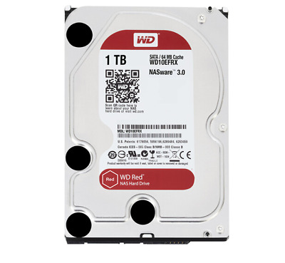 "WD 1TB SSD 3.5"" SATA Serial ATA III WD10EFRX Red HDD 1000GB Internal Hard Drive"