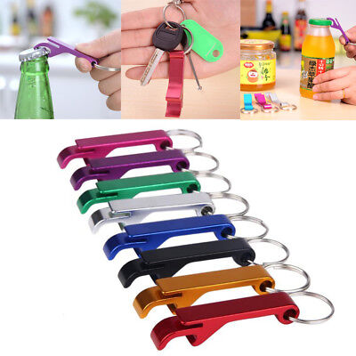 3Pcs Bottle Opener Key Ring Chain Keyring Keychain Metal Beer Bar Claw Gift New