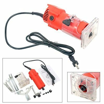 1/4'' 110V Trim Router Edge Woodworking Cuts Power Tools Electric Hand Trimmer C