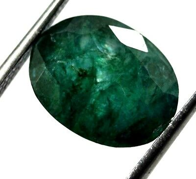 GGL Certified 3.70 Ct Natural Oval Cut Green Emerald Gemstone Hurry Now