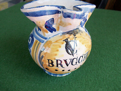 ITALIAN POTTERY JUG-BRVGGHE-collectable-
