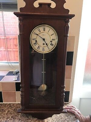 Hermle Westminster Chime Mahogany Wall Clock