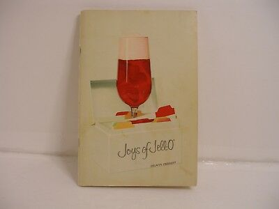 Vintage Joys of Jello Book Mid-century Recipe Cookbook 1960's Photos 96 Pages!