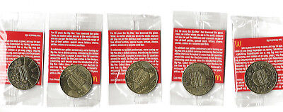 McDonald's 50 Years of Big Mac Anniversary coins complete 5-coin set sealed