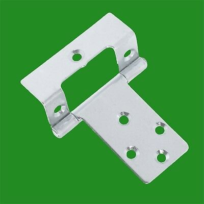 "8x 65mm x 50mm 2.5"" Inch Cranked Flush Door Hinge"