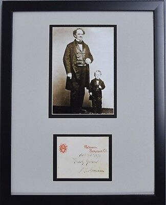 P.t. Pt Barnum Signed Auto Autographed Letterhead Framed Display Circus Jsa/dna