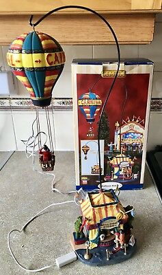 Boxed Lemax Christmas village light up house display. Carnival Balloon Ride