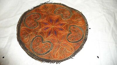 "#825WW Antique vtg TEXTILE REMNANT 6 3/4"" piece of  Paisly"
