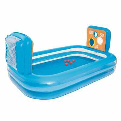 Bestway 54170 inflatable kiddie paddling pool with goals and targets