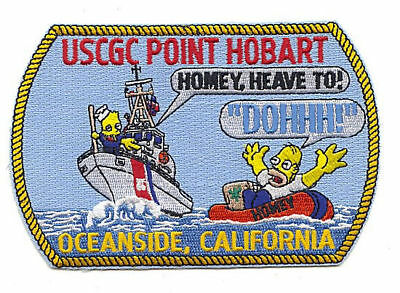 USCGC POINT HOBART Oceanside CA Homer Simpson W2960 USCG Coast Guard patch