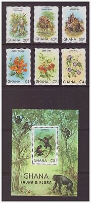 Ghana MNH 1982 Nature Flora and Fauna mint set stamps