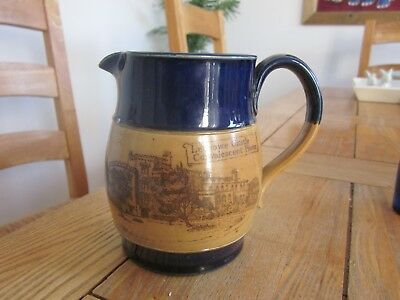 Doulton Herne Bay Convalescent Home Kent Blue Top Whisky Water Jug